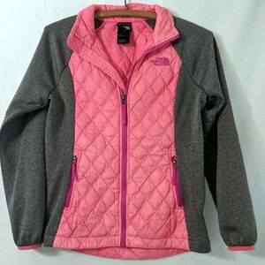 North Face Girls Pink THERMOBALL HYBRID Jacket M